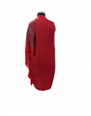 Semi Pashmina shawl maroon color