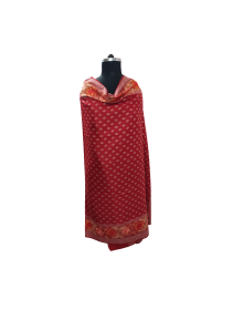 women printed shawls red color