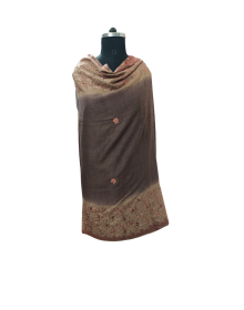 women designer  border brown shawls
