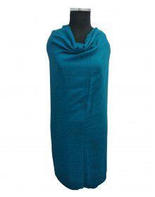 Wool blend winter shawl Blue