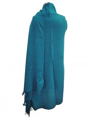 Wool blend winter shawl Green