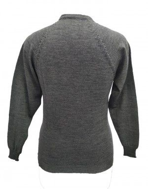 Womens Pure wool havy Sweater Full Button Grey