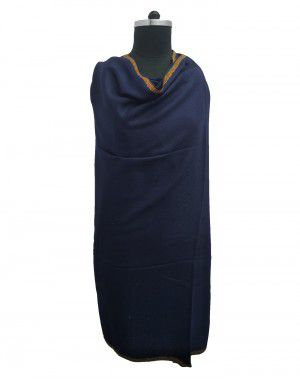 Kashmiri embroidery designer shawl navy