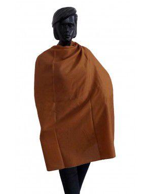 Wool blend winter shawl Brown
