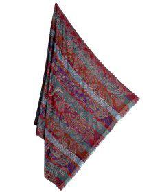 Wool blend designer shawl full Ambi Design multi