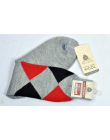 Pure Wool Socks Diamond P12
