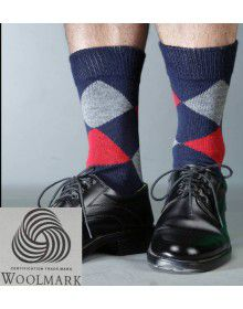 Pure Wool Socks Diamond P6