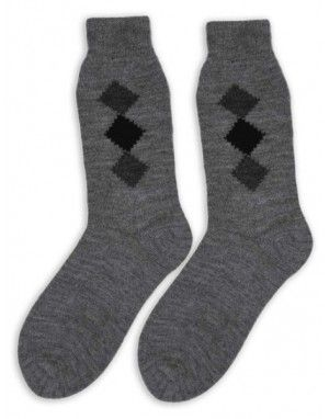 Pure Wool Socks Square Design