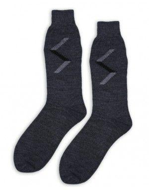 Pure Wool Socks Zig Zag