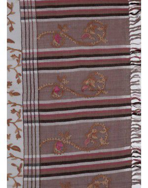 Stole with designer stripes Aari palla