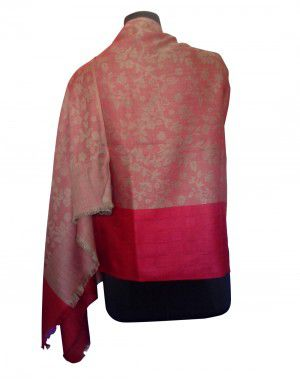 Woolblend Printed Stole Red Colour