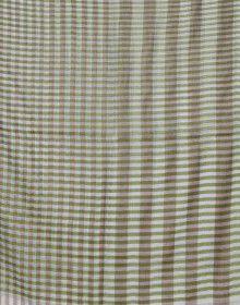 Semi Pashmina Stole Green Full Stripes printed