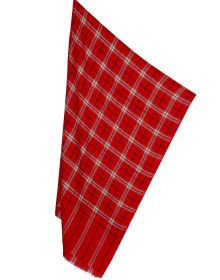 Semi Pashmina Stole Red Color fine check