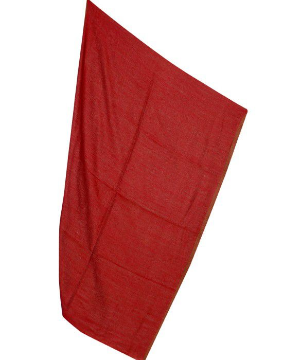 Semi Pashmina Stole Reversible Red color