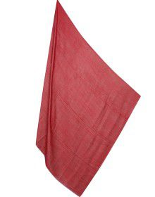 Semi Pashmina shawl Full plain Red color