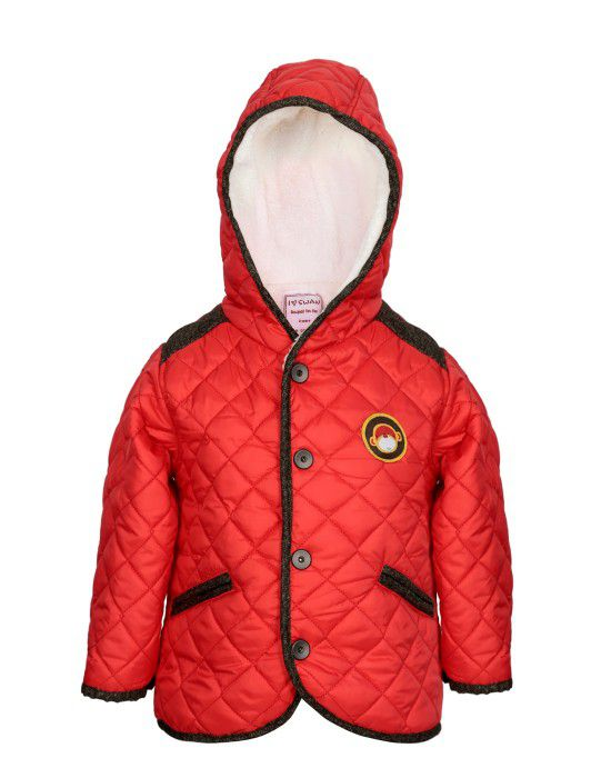 Kids Hooded Jacket Red