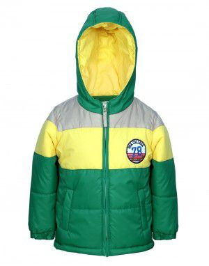 Boys Green Hooded Jacket