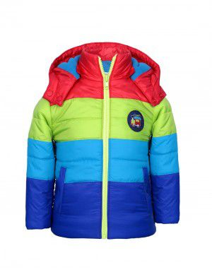 Boys hooded striped jacket Multi