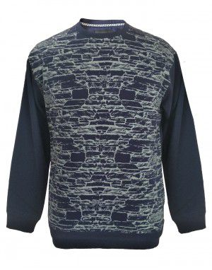 Men printed design Navy