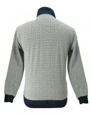 Men sweartshirt  dot printed with neck front botton