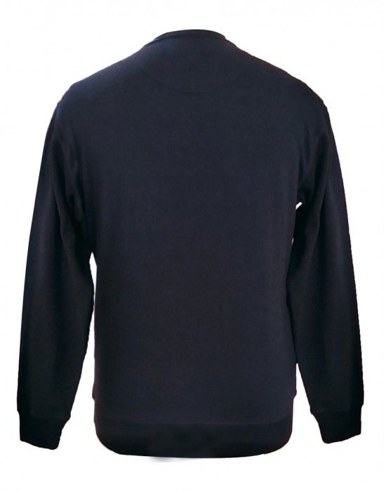 Mens sweartshirt Front printed round neck Navy