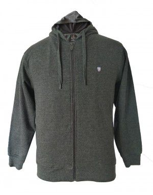 Men sweartshirt plain design hood with zipper