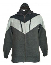 Men sweartshirt Plain design with hood with zipper