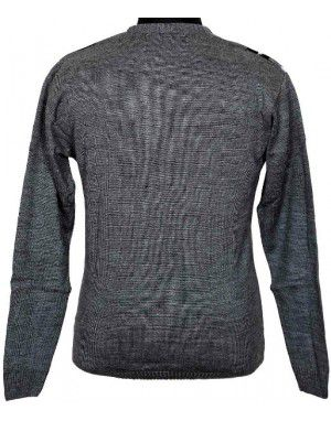 Pure wool Heavy Weight Sweater T Neck Grey