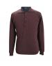 Pure wool Plain Light Weight  Shirt with collar  dark brown
