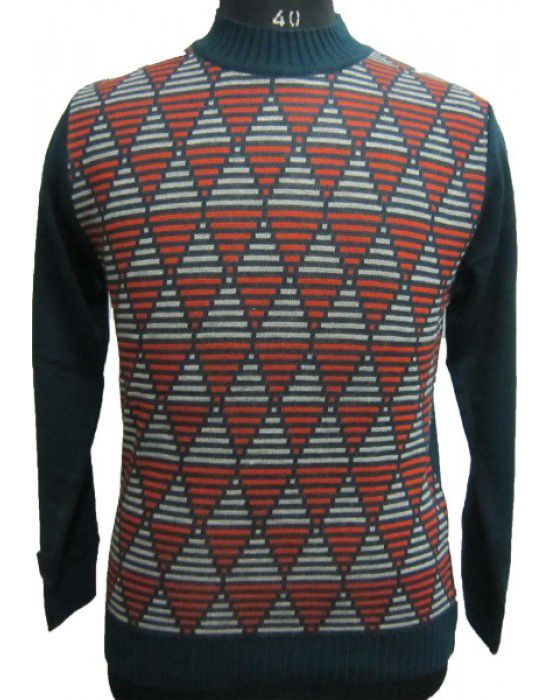 Mens Computer Print Sweater