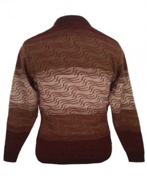 Men Wool Blend Designer Sweater V Neck Brown color