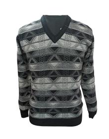 Men Purewool Sweater Design grey