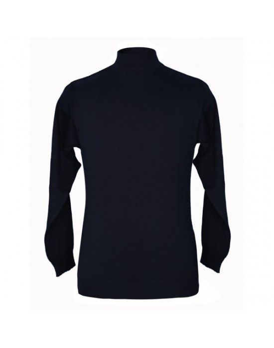 Pure wool Plain Light Weight  Sweater T Neck Black