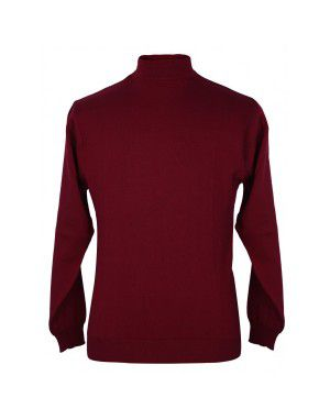 Pure wool Plain Light Weight  Sweater T Neck Red