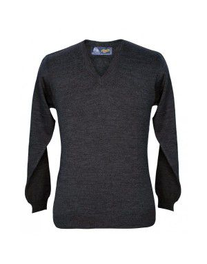 Pure wool Plain Sweater V Neck