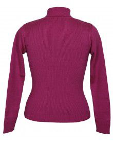 Girls Sweater High Neck Pink
