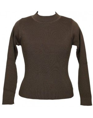 Girls Sweater High Neck Coffee