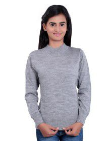 Girls Sweater Plain Grey Mix Colour