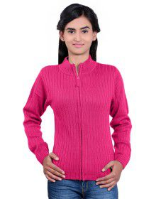 Girls Sweater Long Stripes Rose Colour