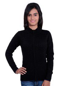 Girls Designer Sweater  Colour Black