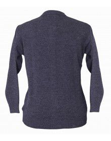 Womens Pure wool Sweater Full Button Grey