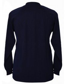 Womens Pure wool Sweater Full Button Navy