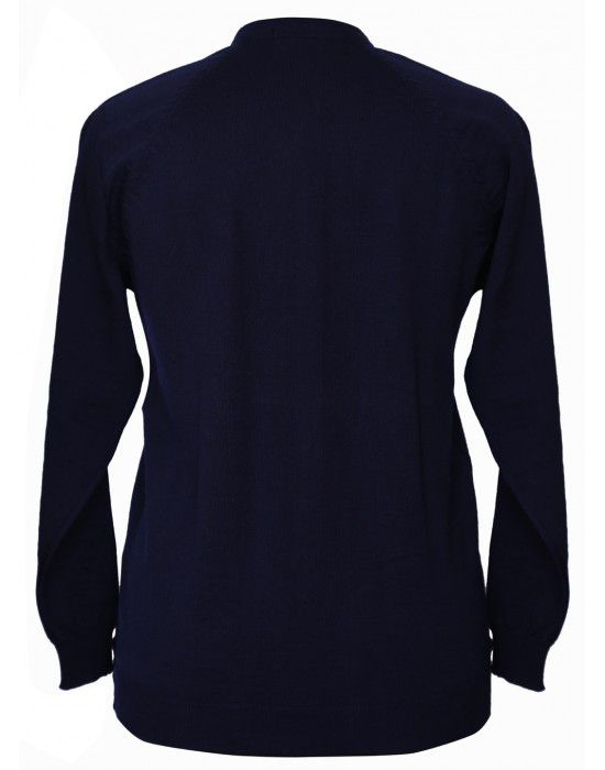 Womens Pure wool  havy Sweater Full Button Navy