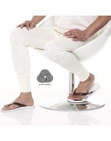 Pure Wool Mens Long John Plus Size Cream