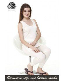 Women SL Pure Wool Thermals Slip and bottom Combo