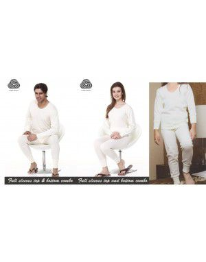 Merino wool Thermal Family Set Cream