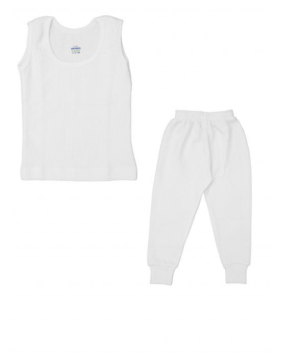 Kids SL Cotton Body warmers set White