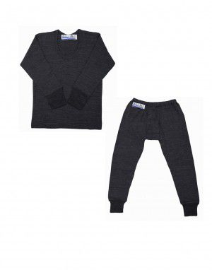Baby FS Merino wool Body warmer set Dark Grey