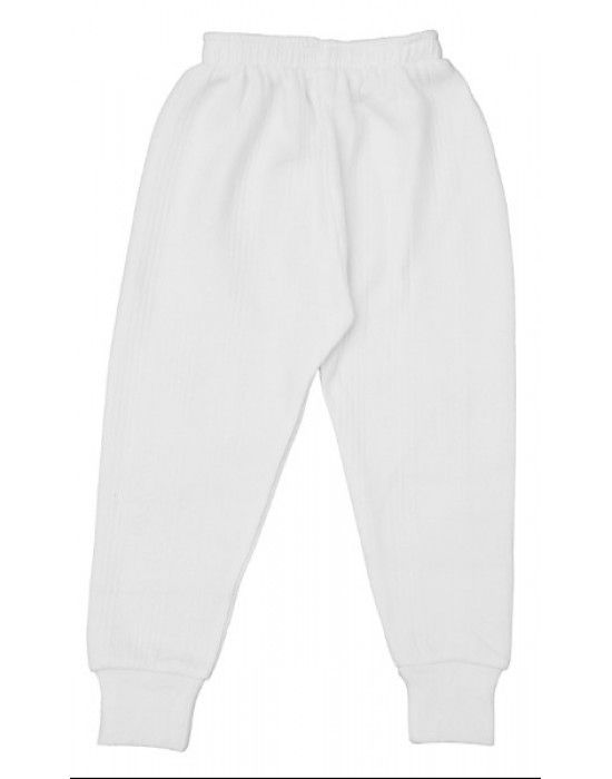 Kids Cotton Long John White