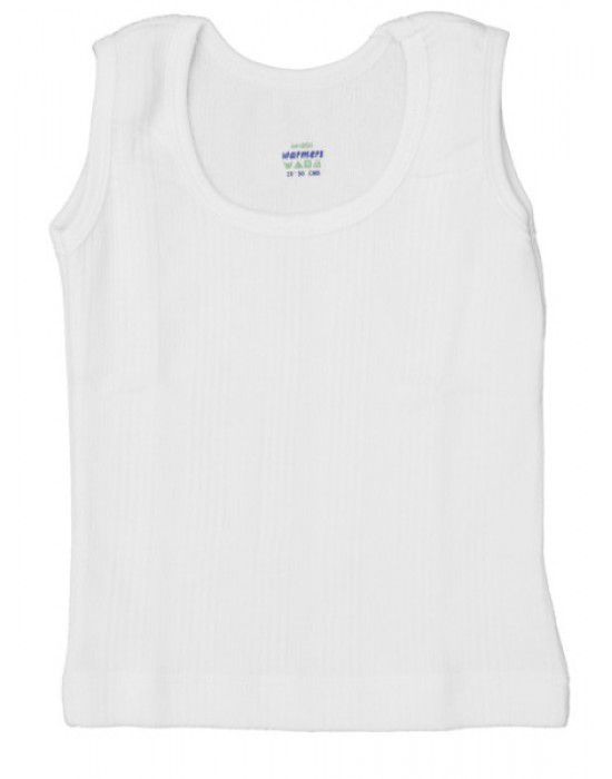 Kids Cotton Vest SL Body warmers White